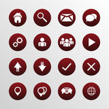 Web design flat icons set Royalty Free Stock Photo