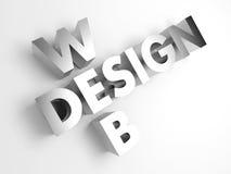 Web design. Fondo astratto di concetto. 3D. Immagini Stock