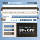 Web design frame vector. Set of vector web elements Royalty Free Stock Photo