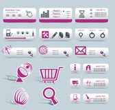 Web Design Frame Vector. Buttons with symbols Vector Illustration