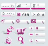 Web Design Frame. Vector with Symbols Royalty Free Stock Images