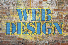Web design graffiti Royalty Free Stock Photography