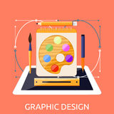 Web Design Graphic Tablet and Tool Stock Image