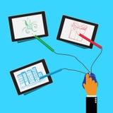 Web design, graphique, illustration de vecteur dans le style plat Illustration Libre de Droits