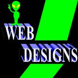 Web Design - Green and Black Royalty Free Stock Photos
