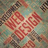 Web Design - Grunge Word Cloud Concept. Stock Image