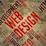 Web Design - Grunge Word Cloud Concept. Stock Photo