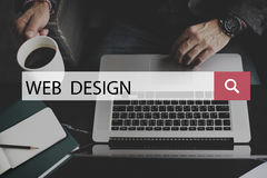 Web Design Homepage Digital Notebook Connection Concept Royalty Free Stock Images