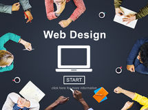 Web Design Homepage Internet layout Software Concept Royalty Free Stock Photography