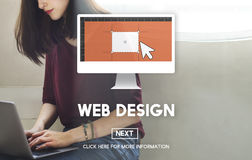 Web Design Homepage Internet layout Software Concept Royalty Free Stock Images