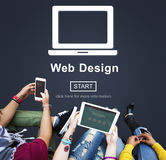Web Design Homepage Internet layout Software Concept stock images