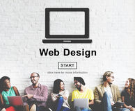 Web Design Homepage Internet layout Software Concept Royalty Free Stock Image