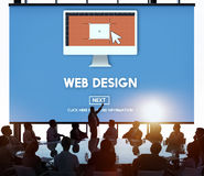 Web Design Homepage Internet layout Software Concept Stock Image