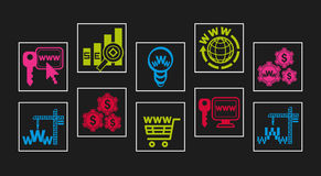 Web-design icon set Stock Image