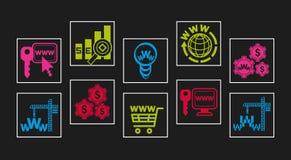 Web-design icon set. Web-studio icon set; vector illustration Stock Image