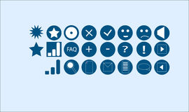 Web design icons vector Royalty Free Stock Image