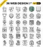 Web design icons. Web design outline icons concept in modern style for website or print illustration Royalty Free Stock Photos