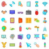Web design icons set, cartoon style Royalty Free Stock Image