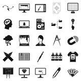 Web design icons set, simple style. Web design icons set. Simple set of 25 web design vector icons for web isolated on white background Royalty Free Stock Photo