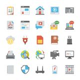 Web Design Icons Set. This is a unique and eye-catching set of web designing. The colorful flat icons of web design in this pack are so creatively designed to Royalty Free Stock Photography