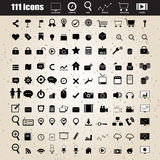 Web design icons set vector Royalty Free Stock Photography