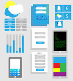Web design icons vector Stock Photography