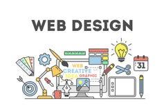 Web design illustration. Stock Photography