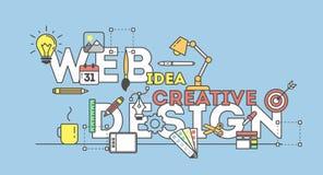 Web design illustration. Stock Photo