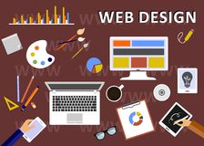 The web design Stock Photos