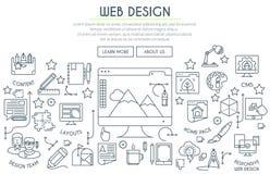 Web Design Illustration Thin Line Royalty Free Stock Photo
