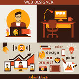 Web design infographic. Royalty Free Stock Photo