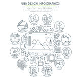 Web Design Infographics Thin Line Royalty Free Stock Images