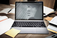 Web Design Laptop Programming Ideas Interface Concept Stock Photo
