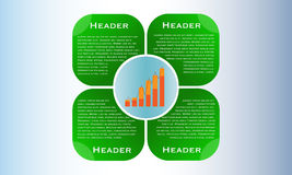Web design layout, business presentation with column graph Royalty Free Stock Images