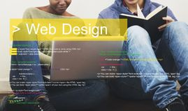 Web design is about layout of the interface stock image