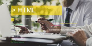 Web design is about layout of the interface. royalty free stock image