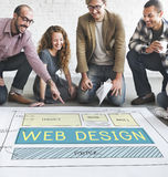Web Design Layout Technology Website Internet Concept Stock Image
