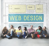 Web Design Layout Technology Website Internet Concept Royalty Free Stock Photo