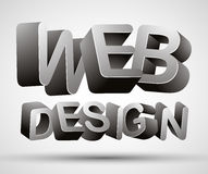 Web design lettering. Royalty Free Stock Photography