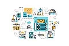 Web design line icons illustration Stock Photos
