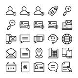 Web Design Line Vector Icons 5 Stock Photography