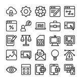 Web Design Line Vector Icons 1 Stock Photo