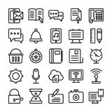 Web Design Line Vector Icons 2 Stock Images