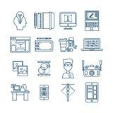 Web Design Linear Icons stock illustration