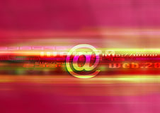 Web design mail red. Red graphic univers, web technology Stock Image