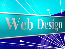Web Design Means Websites Online And Net Royalty Free Stock Images