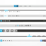 Web Design Menu Navigation Bar Website Header Stock Photo