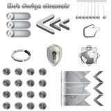 Web design metal elements Royalty Free Stock Image