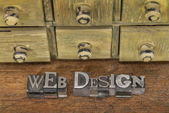 Web design in metal type Stock Photos