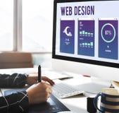 Web Design Mobile Interface Layout Concept Stock Photos